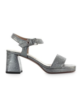 L'AUTRE CHOSE STEEL LEATHER SANDAL