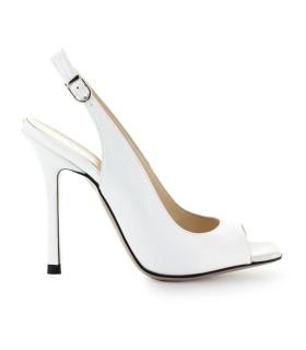 MARC ELLIS WHITE LEATHER SANDAL
