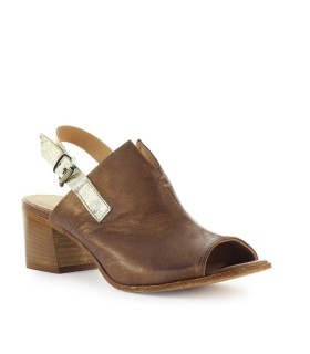LEMARÉ LIGHT BROWN LEATHER SANDAL