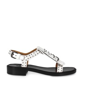 CHURCH'S ROSEANNA MET WHITE LEATHER SANDAL