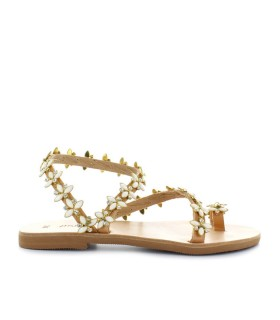 DIMITRA'S WORKSHOP SANTORINI WHITE SANDAL