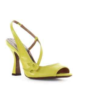 L'AUTRE CHOSE YELLOW LEATHER SLINGBACK SANDAL