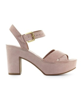 L'AUTRE CHOSE LIGHT PINK SUEDE SANDAL