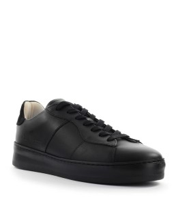 SNEAKER LIGHT PLAIN COURT NERO BEIGE FILLING PIECES