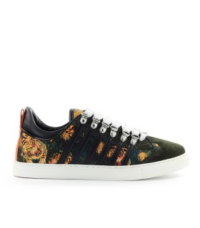 SNEAKER LOW SOLE TIGRATA FIORI DSQUARED2