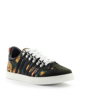 DSQUARED2 LOW SOLE TIGER PRINT FLOWERS SNEAKER