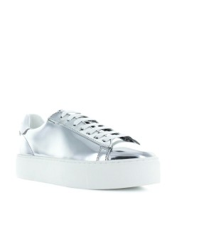 DSQUARED2 SNEAKER NEW TENNIS MIRROR SILBER