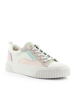 MICHAEL KORS OSCAR LACE UP CREAM SNEAKER