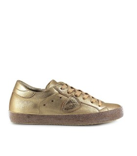 SNEAKER PARIS GLITTER METAL ORO PHILIPPE MODEL