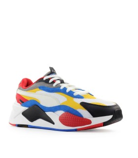 PUMA RS-X3 PUZZLE WHITE YELLOW SNEAKER
