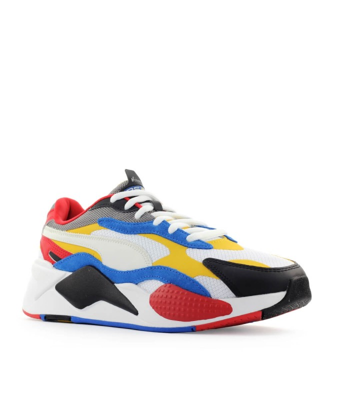 Puma White Yellow Rs-X3 Puzzle Sneaker