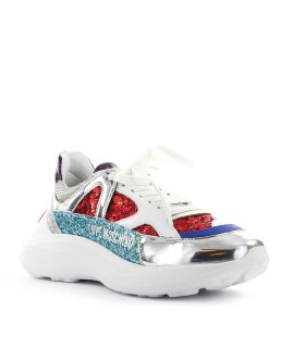 LOVE MOSCHINO MULTICOLOR MIX RUNNING SNEAKER