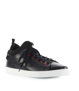 SNEAKER TECHNO NEW TENNIS PELLE NEOPRENE DSQUARED2