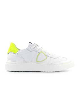 SNEAKER TEMPLE NEON BIANCO GIALLO PHILIPPE MODEL