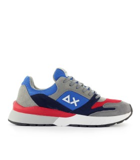 SUN68 YAKI ROYAL BLUE RED GREY SNEAKER