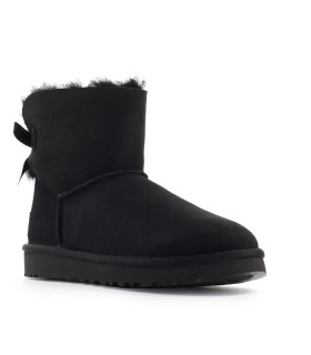 UGG BLACK MINI BAILEY BOW BOOT