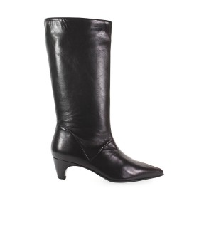 ETTORE LAMI BLACK NAPPA LEATHER BOOTS