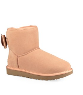 BOTAS SATIN BOW MINI ROSA CLARO UGG