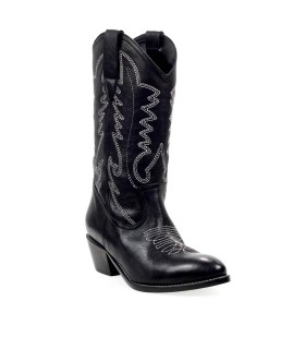 ÂME BLACK EMBROIDERY TEXAN STYLE BOOT