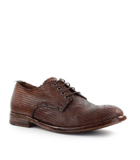 MOMA BROWN BRAIDED DERBY LACE UP
