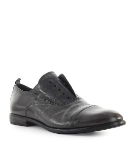 MOMA GREY LEATHER OXFORD LACE UP