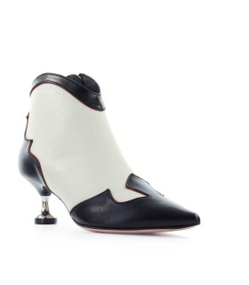 ROBERTO FESTA BLACK CREAM DEHLER ANKLE BOOT