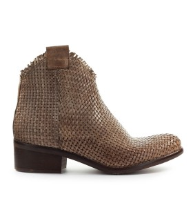 ZOE TAUPE BRAIDED ANKLE BOOT