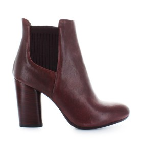 FIORI FRANCESI BORDEAUX LEATHER BOOTS