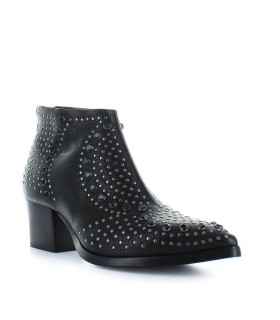 LEMARÉ BLACK LEATHER TEXAN STYLE BOOTS WITH STUDS