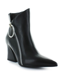 ETTORE LAMI BLACK LEATHER ZIPPER BOOTS