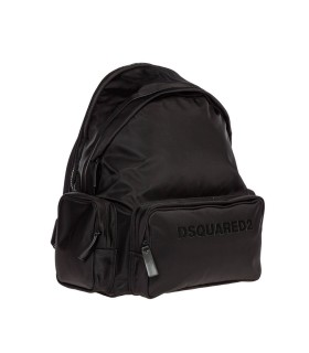 ZAINO NYLON LOGO NERO DSQUARED2