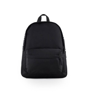 EMPORIO ARMANI BLACK NYLON LOGO BACKPACK