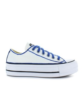 CONVERSE ALL STAR PLATFORM WHITE/BLUE SNEAKER LTD ED