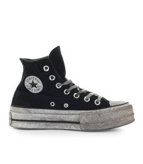 CONVERSE ALL STAR CHUCK TAYLOR SMOKED BLACK HIGH-TOP SNEAKER