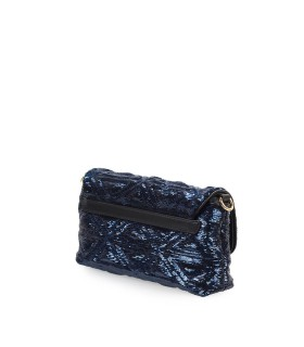 EMPORIO ARMANI BLUE BLACK SEQUINS HANDBAG