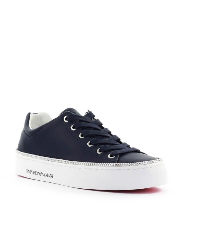 Emporio Armani Navy Blue Leather