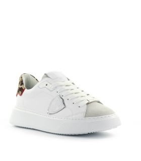 SNEAKER TEMPLE BIANCO LEOPARDO PHILIPPE MODEL