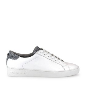 SNEAKER IRVING LACE UP BIANCO ARGENTO MICHAEL KORS