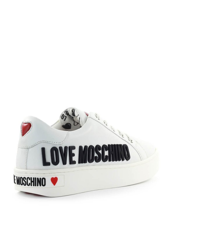 Love Moschino White Sneaker With Black