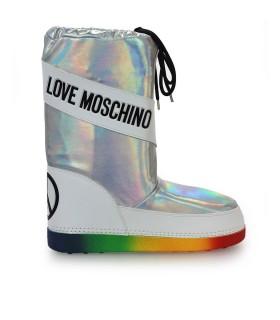 STIVALE DA NEVE ARGENTO LOVE MOSCHINO
