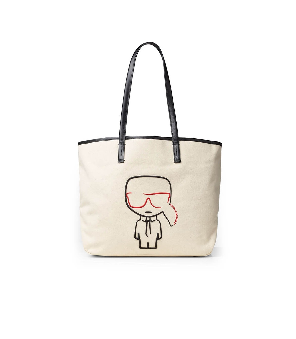 Karl Lagerfeld K/IKONIK CREAM SHOPPING BAG