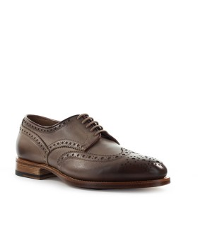 SANTONI DERBY TAUPE LACE UP
