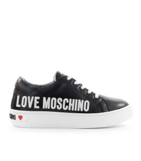 LOVE MOSCHINO BLACK SNEAKER WITH WHITE LOGO