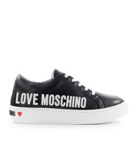 LOVE MOSCHINO BLACK SNEAKER WITH WHITE LOGO