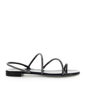 GREY MER MINI CAMPARI BLACK FLAT SANDAL