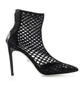 GREY MER BALI TRICOT BLACK ANKLE BOOT