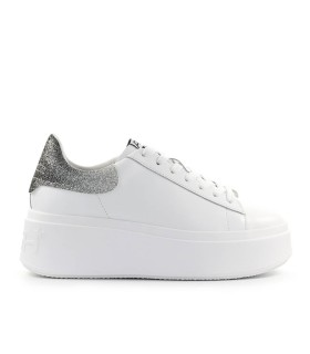 SNEAKER MOBY BIANCO ARGENTO ASH