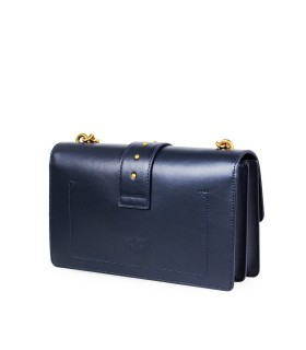 PINKO LOVE CLASSIC ICON SIMPLY C DARK BLUE CROSSBODY BAG