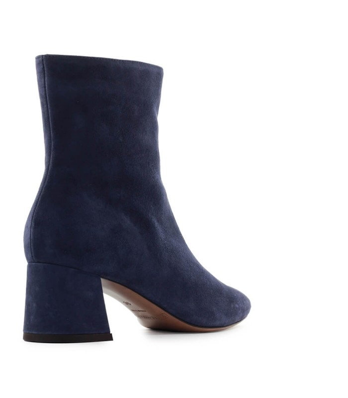 navy suede ankle boots
