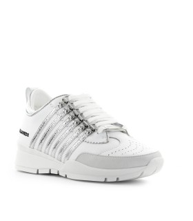 SNEAKER 251 BIANCO ARGENTO DSQUARED2